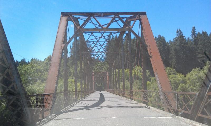 Russian River, old bridge, Sonoma