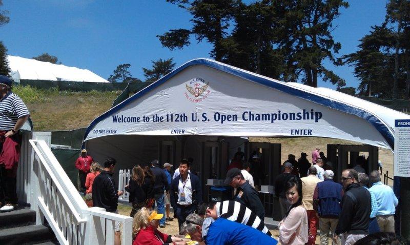US Open Golf backdoor entrance - Thursday